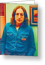 John Lennon 1975 Greeting Card by William Jobes