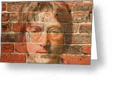 John Lennon 2 Greeting Card by Andrew Fare