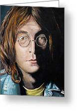 John Lennon 2 Greeting Card by Tom Carlton