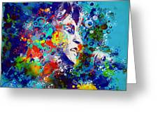 John Lennon 3 Greeting Card by MB Art factory