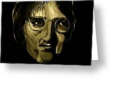 John Lennon 4 Greeting Card by Mark Moore