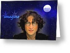 John Lennon Greeting Card by Anthony Caruso