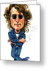 John Lennon Greeting Card by Art