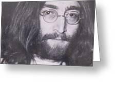 John Lennon Greeting Card by Donna Wilson