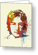 John Lennon Greeting Card by Naxart Studio