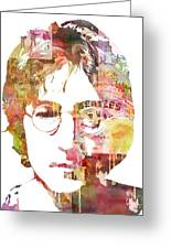 John Lennon Greeting Card by Mike Maher