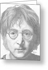 John Lennon Greeting Card by Olivia Schiermeyer