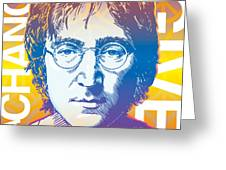 John Lennon Pop Art Greeting Card by Jim Zahniser