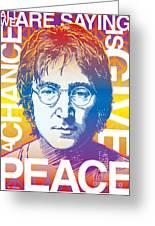 John Lennon Pop Art Greeting Card by Jim Zahniser