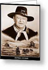 John Wayne Us Cavalry Greeting Card by Andrew Read