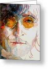 John Winston Lennon Greeting Card by Paul Lovering