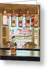 Johnnie Walker And Del Greeting Card by Mary Helmreich