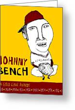 Johnny Bench Cincinnati Reds Greeting Card by Jay Perkins