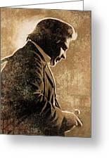 Johnny Cash Artwork Greeting Card by Sheraz A