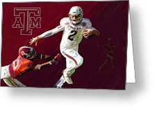 Johnny Football Greeting Card by GCannon