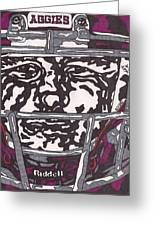 Johnny Manziel 16 Greeting Card by Jeremiah Colley