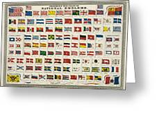 Johnsons New Chart Of National Emblems Greeting Card by Nomad Art And  Design