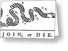 Join Or Die Greeting Card by Anonymous