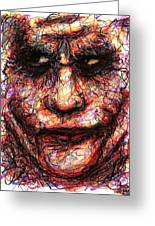 Joker - Face II Greeting Card by Rachel Scott