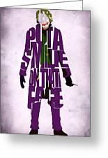Joker - Heath Ledger Greeting Card by Ayse Deniz