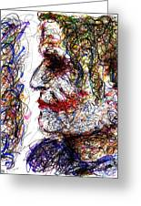 Joker - Profile Greeting Card by Rachel Scott