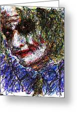 Joker - Tilt Greeting Card by Rachel Scott