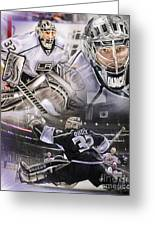 Jonathan Quick Collage Greeting Card by Mike Oulton