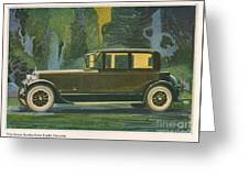 Jordan Line Eight Victoria Car 1925 Greeting Card by The Advertising Archives