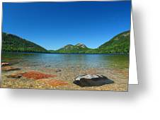 Jordan Pond And The Bubbles Greeting Card by Juergen Roth