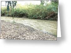 Jordan River After the Rains Greeting Card by Rita Adams