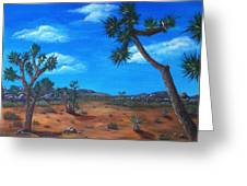 Joshua Tree Desert Greeting Card by Anastasiya Malakhova