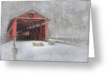 Josiah Hess Covered Bridge Greeting Card by Lori Deiter