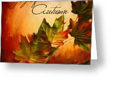 Joy Of Autumn Greeting Card by Lourry Legarde