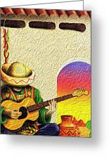 Juan's Song Greeting Card by Tyler Robbins