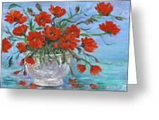 Jubilee Poppies Greeting Card by Catherine Howard