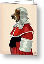 Judge Dog Portrait Greeting Card by Kelly McLaughlan