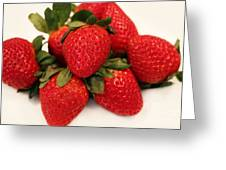 Juicy Strawberries Greeting Card by Barbara Griffin