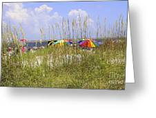 July 4th On The Beach Greeting Card by William Bosley