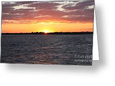 July 4th Sunset Greeting Card by John Telfer