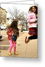 Jump For Joy Greeting Card by Jon Van Gilder