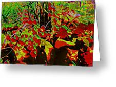 Jungle Abstract Greeting Card by Mike Breau