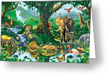 Jungle Harmony Greeting Card by Chris Heitt