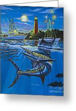 Jupiter Boat Parade Greeting Card by Carey Chen
