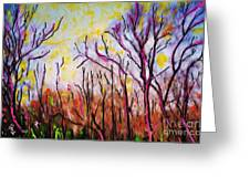 Just Across The River Greeting Card by Sarah Loft