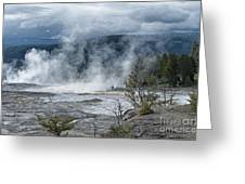 Just Before The Storm - Mammoth Hot Springs Greeting Card by Sandra Bronstein