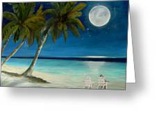 Just Beyond The Moon Greeting Card by Sharon Burger