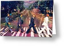 Just Crossing The Street Greeting Card by Angela A Stanton