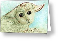 Just One Little Lamb Greeting Card by Eloise  Schneider