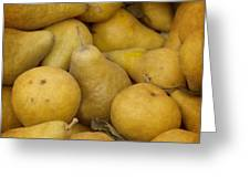 Just Pears Greeting Card by Rebecca Cozart