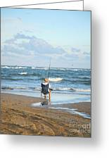 Just Relaxin And Fishin Greeting Card by Suzi Nelson